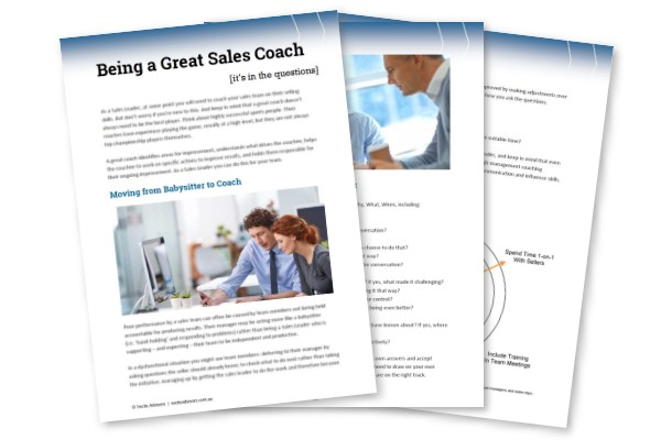 sales coaching guide for sales leaders
